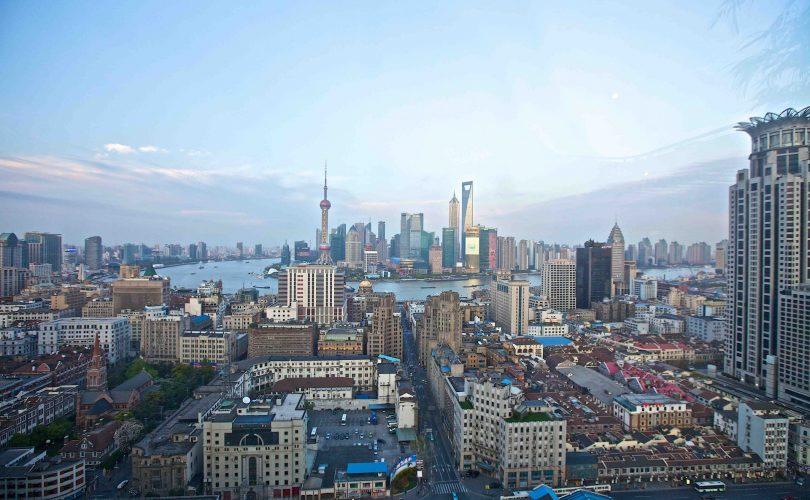 shanghai china cityscape